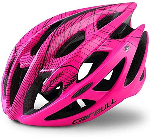 Ultralight helm, voor mannen, vrouwen, mountainbike, atletisch, voor mannen en vrouwen,Pink