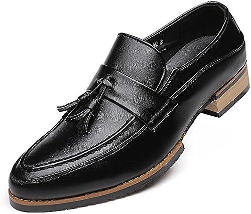 LOVDRAM Chaussures Hommes Nouveau Chaussures Hommes Mode Chaussures Simples Chaussures Glands Chaussures Compensées Noires De Wenzhou