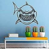 HNXDP Shark Marine Ocean Fish Pegatinas de pared Vinilo Decoración del hogar Sala de estar Dormitorio Mar Animales Calcomanías Artículos para el hogar Diseño Murales 46x42cm