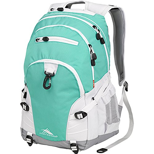 High Sierra Loop Backpack, Aquamarine/White/Ash, 19 x 13.5 x 8.5-Inch