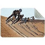 DragonSwordlinsu Bmx Racing Cycling Race Bike Area Tappeto Tappeto Antiscivolo Zerbini per...
