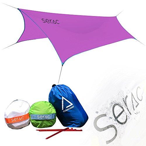 Serac [#1 Hammock and Tent Tarp] Ultralight Hammock Rain Fly and Shelter Perfect for Waterproof...