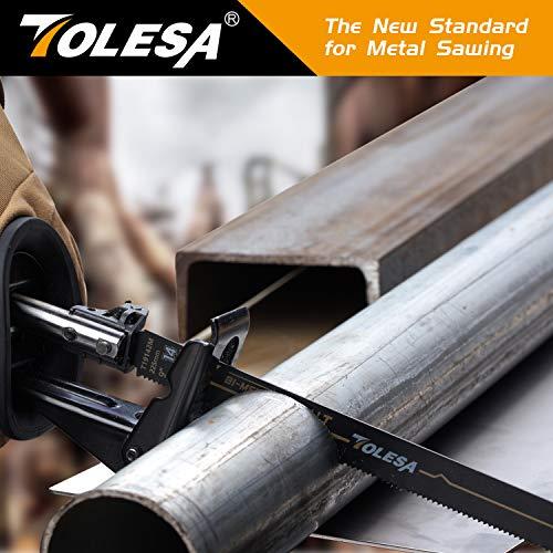 Product Image 6: TOLESA Reciprocating Saw Blade Bi-Metal Cobalt for Sawzall Saw 9-Inch 14TPI Metal Cutting - 5 Pack