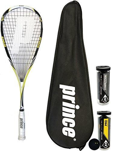 Prince Pro Rebel 950 Raqueta De Squash - 12 x Dunlop Pro Balls