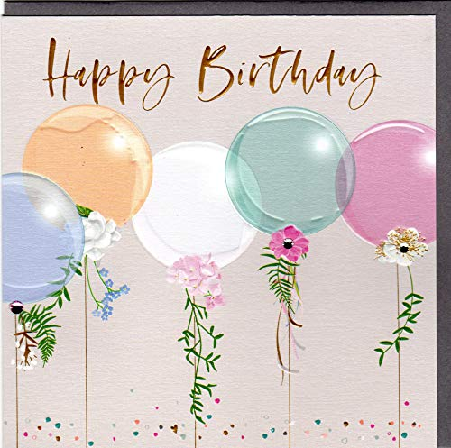 Belly Button Designs hochwertige Glückwunschkarte zum Geburtstag aus der neuen Elle Serie mit Prägung, Folie und Kristallen BE001