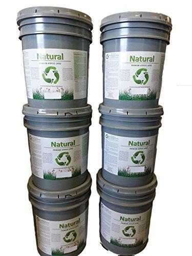 Natural Finish Interior Flat White Paint, 5-gallons Pastel Base