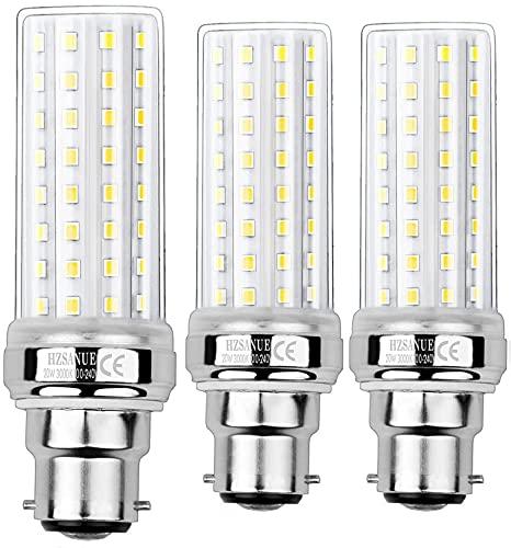 HZSANUE LED Lampadina Mais 20W, B22 Lampadina Baionetta, 3000K Bianco Caldo, 2000LM, 150W Lampadine Incandescenza Equivalenti, Non Dimmerabile, Confezione da 3