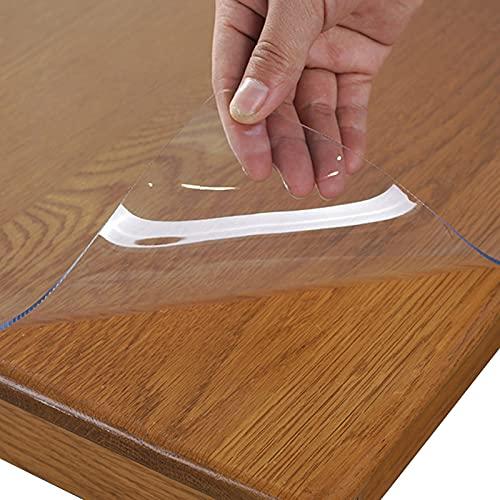 NLKE Protector de Mesa de plástico Transparente Grueso de 1mm Comedor Mantel Protector Alfombrilla Escritorio Alfombrilla para Silla de Oficina Suelo de Madera Dura(Size: 55x100cm/21x39in)