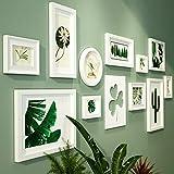 WTT Marco múltiple 11 Set de marcos para fotos múltiples, dos 14 x 18 cm, uno 17,5 x 22,6 cm, dos 11,6 x 15,5 cm, uno 23 x 28 cm, dos 27,6 x 37,6 cm, dos 18 x 33,2 cm, una 20,2 x 20,2 cm