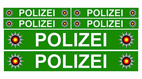 Finest Folia 6 x politie auto boot caravan bus bike fiets sticker plakband RC Car modelbouw R023 groen.