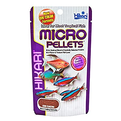 HIKARI Tropical Fish Micro Pellets Nutritional Food for Smaller Mouth Fishes 80g Pack