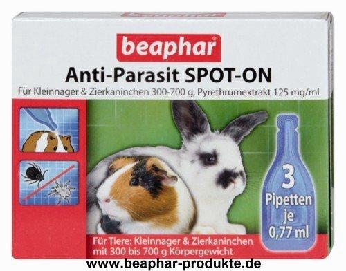 Anti-Parasit SPOT-ON für Kleinnager 300-700 g 3 x 0,4 ml Pipetten