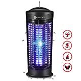YUNLIGHTS [2020 Upgraded] Bug Zapper, 11W Powerful Insect Killer, Indoor UV Light Fly Pests Insects Attractant, Safe & Non-Toxic Electronic Mosquito Killer, Bug Zapper Mosquito Repellent Eliminator
