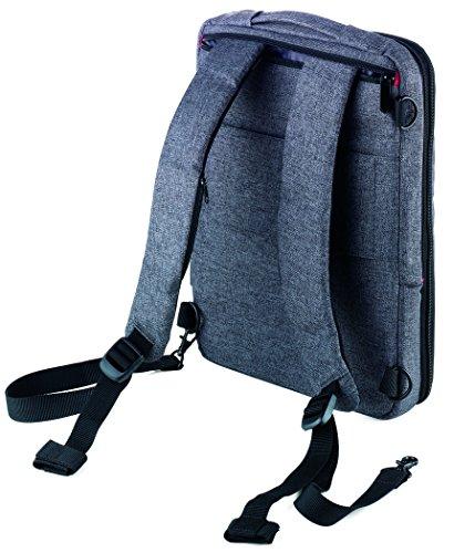 TROIKA SAFTSACK – RUC70/GY – Business-Rucksack – USB-Ladeanschluss, Arbeit, Schule, Uni – 1 Fach (Dokumente, Laptop, Tablet - bis zu 13'') – 1 Elastikbandfach – TROIKA-Original