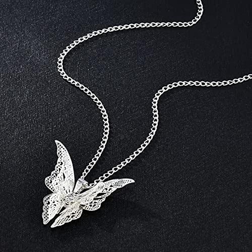 QIN Sexy Mariposa Colgante Collar gótico Moda joyería Hombres Mujeres Collar Punk conmemorar joyería