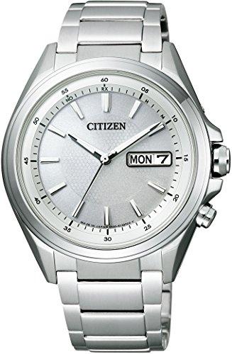 [シチズン]CITIZEN 腕時計 ATTESA アテッサ Eco-Drive エコ・ドライブ 電波時計 デイ&デイトモデル ディスク式3針デイ&デイト AT6040-58A メンズ