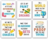 """IARTTOP Watercolor Inspirational Quotes Art Print,Motivational Sayings Wall Art Poster,Positive Words Canvas Painting For Students Classroom Nursery Playroom Study Decor Set of 6(8""""X10"""",Unframed)"""