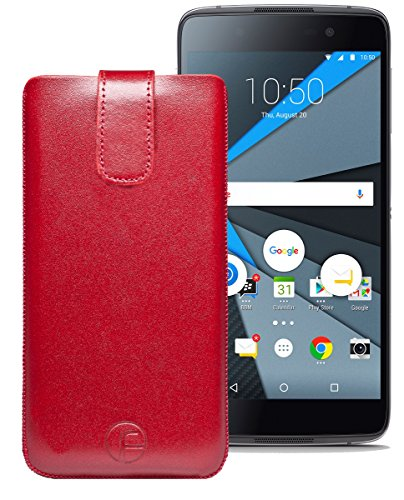 Original Favory Etui Tasche für BlackBerry DTEK50   Leder Etui Handytasche Ledertasche Schutzhülle Hülle Hülle Lasche mit Rückzugfunktion* in rot