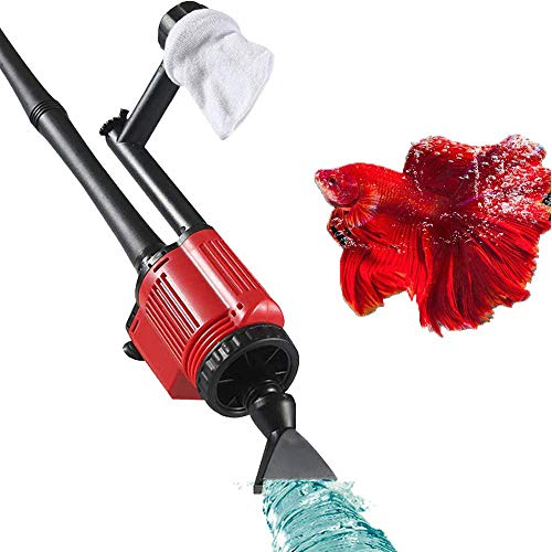 FeelGlad Filter Cleaning, 6 in 1 Electric Automatic Fish Tank Vacuum Cleaner, 28W Syphon Operated...