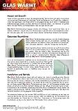 Infrarotheizung 450 Watt ESG Spiegel Glaswärmt Spiegelheizung - 6