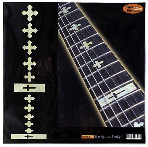 Marqueurs de palissandre incrustation Autocollant Stickers pour guitare et basse–Cross-wp