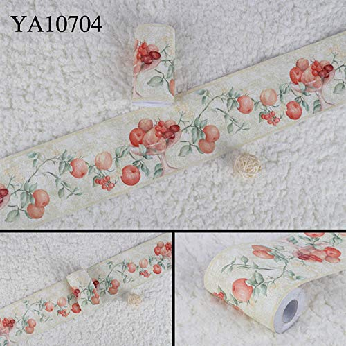 Tapete bordüre Weiße Früchte Entfernbare selbstklebende wasserdichte für Wohnzimmer Badezimmer Schlafzimmer Küche Aufkleber Wanddeko