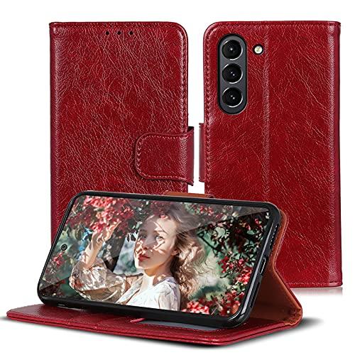 16Jessie Funda de piel compatible con Samsung Galaxy S21 FE, funda tipo libro, de silicona, 360 grados, resistente a los golpes, para Samsung Galaxy S21 FE, funda original de piel sintética