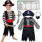 Sincere Party Disfraz de Pirata Infantil con Sombrero, Espada y Ojo...