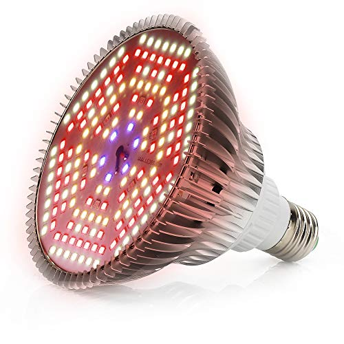 120W Bombilla LED para Cultivo Espectro Completo Lámpara LED Plantas Crecimiento Interior E27 Luces Led Cultivo 180 LED Grow Light para Interior Plantas Hidroponia Crecimiento y Floracion