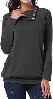 Moda para Mujer de Manga Larga Pullover Casual Túnica Sudaderas Blusa Camiseta