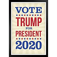 欧米風ポスター -トランプ大統領が2020年大統領選挙に投票 -壁掛け 壁飾り - 33x23cm(額縁を送る)