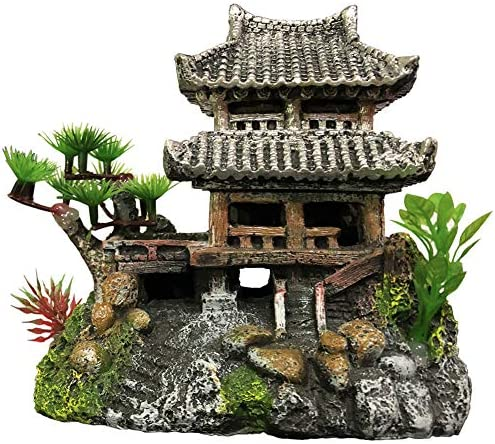 SLOCME Aquarium Classical Resin Castle Decorations Fish Tank Realistic Details Castle Eco Friendly product image