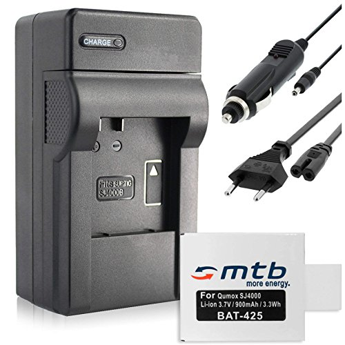 Batería + Cargador (Coche/Corriente) para Qumox SJ4000,