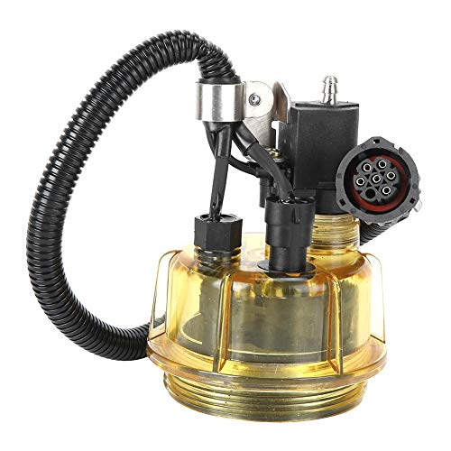 Olie-waterafscheider, olie-opvangbak 20875073 Auto Brandstoffilter voor auto Motorolie-waterafscheider met verwarmingsfunctie Vervanging voor vrachtwagen Universeel