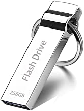 256GB USB Drive, Coousyu USB Memory Stick Waterproof Storage Thumb Drive with Keychain - Silver