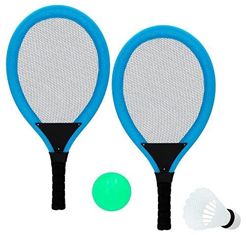 ML Set de Raquetas Palas o bádminton Incluye Dos Palas 54cm Pluma, 1 Bola. Raquetas de Tenis de Mesa, Juego de Tenis de Mesa Tenis de Mesa Raqueta Ping Pong Set Entrenamiento Redes de Tenis de