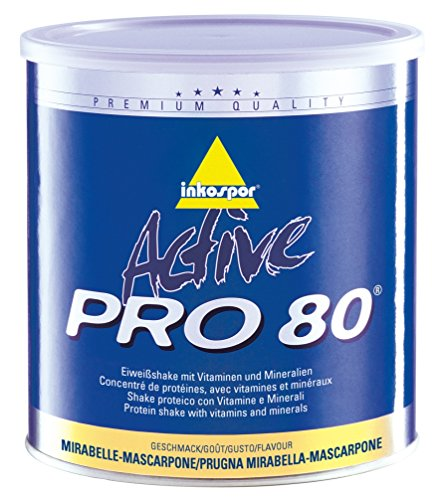 Inkospor ACTIVE Pro 80 Shake protéiné Définition Tonification et Perte de Poids Mirabelle-mascarpone 750 g