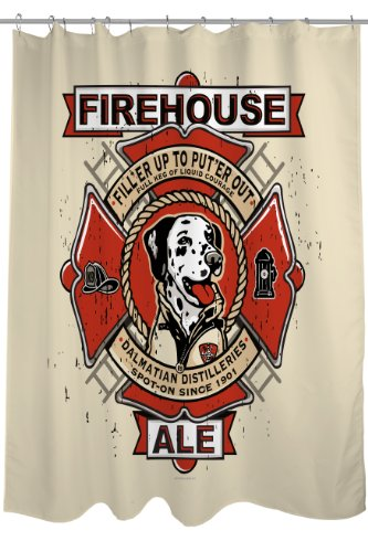 One Bella Casa Firehouse Ale douchegordijn, 71 van 74-inch