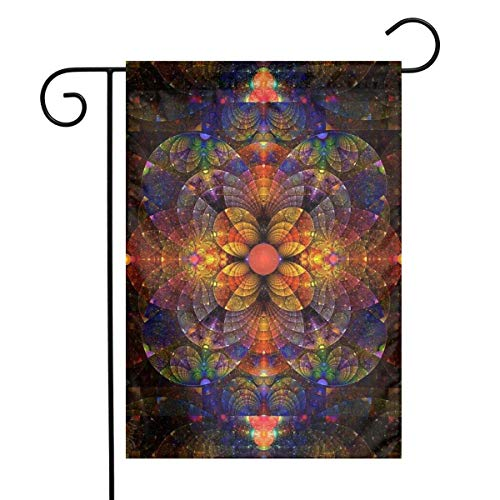 N / A Espectacular Mandala Art Home Garden Flag Vertical Primavera Verano Decorativo Rústico/Casa de Campo Pequeña decoración Patio Banderas Set para decoración Interior y Exterior