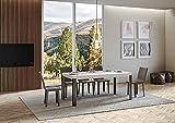 Itamoby, Mesa línea extensible blanca fresno 90 x 180 cm alargada 284