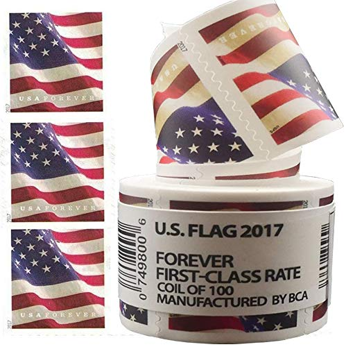 Flag Stamps Business Envelope Matching 2017 Forever Postage Stamps - Roll of 100