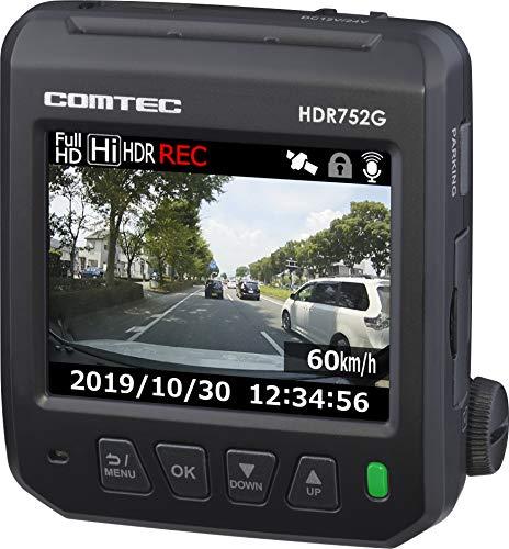 コムテック ドライブレコーダー HDR752G 200万画素 Full HD ノイズ対策 LED信号対応 画像補正 専用microSD(...