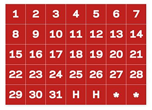 magnetic calendar numbers - 3