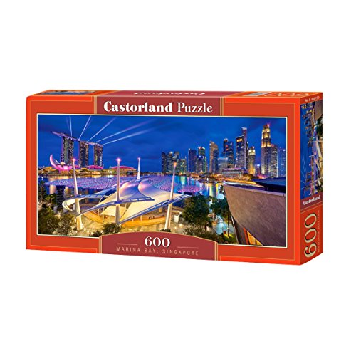 Castorland Marina Bay, Singapore 600 pcs Puzzle - Rompecabezas (Singapore 600 pcs, Puzzle rompecabezas, Ciudad, Niños y adultos, Niño/niña, 9 año(s), Interior) , color/modelo surtido