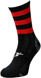 ND Sports, Precision Sports Calcetines Junior Mid Pro con aro negro/rojo J12-2