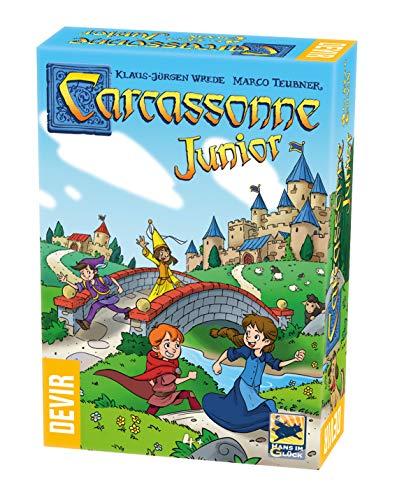 Devir - Carcassonne Junior Juego de Mesa, Multicolor, 27.5 x 6.5 x 19 cm (BGCARJTR)