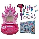 Espejo con luces y sonidos para pendientes, anillos, pulseras, cepillo secador de pelo, funciona en caja de regalo – TOY0270/R