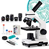 Microscopio per Bambini Studenti Adulti 40X-1000X Composti Biologic Microscopio Ottico per l'istruzione...