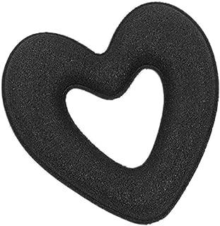 Hair Styling Accessories Kit Set for DIY,Heart Shape Sponge Bun Maker Braid Holder Twist Hair Beauty Styling Tool Headdress Design Kit Black