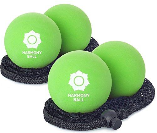 –Bolas de masaje (2unidades de caucho natural Incluye Red–2x pelotas de masaje por 6,3cm/7,2cm, agradable, perfecto para quimioterapia blando de y automasaje